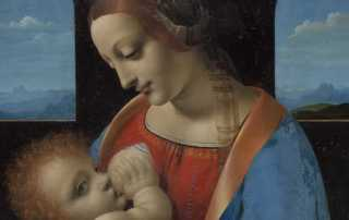 Leonardo da Vinci (Vinci, 1452 - Amboise, 1519), Madonna Litta. Tempera su tavola trasportata su tela, c. 1495. © San Pietroburgo, Museo dell'Ermitage, inv. ГЭ-249