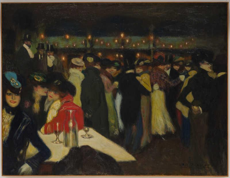 Pablo Picasso, Le Moulin de la Galette, Parigi, ca. novembre 1900. Olio su tela, 88,2 x 115,5 cm. Solomon R. Guggenheim Museum, New York, Thannhauser Collection, Donazione Justin K. Thannhauser. © Succession Picasso, by SIAE 2019