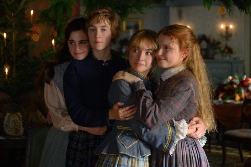 Emma Watson, Saoirse Ronan, Florence Pugh e Eliza Scanlen nel film Piccole Donne. Photo: courtesy of Sony Pictures.