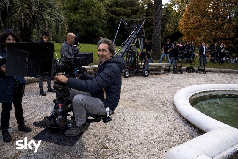Paolo Sorrentino sul set di The New Pope. Photo by Gianni Fiorito.