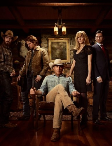 Kevin Costner e il cast di YELLOWSTONE