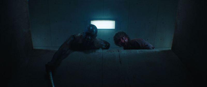 Una scena del film horror il Buco. Photo: courtesy of Netflix.