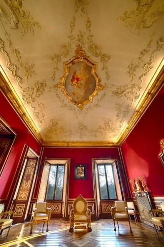Sala delle Udienze, Appartamenti Reali. Foto di Mario Donadoni © Archivio Consorzio Villa Reale e Parco di Monza