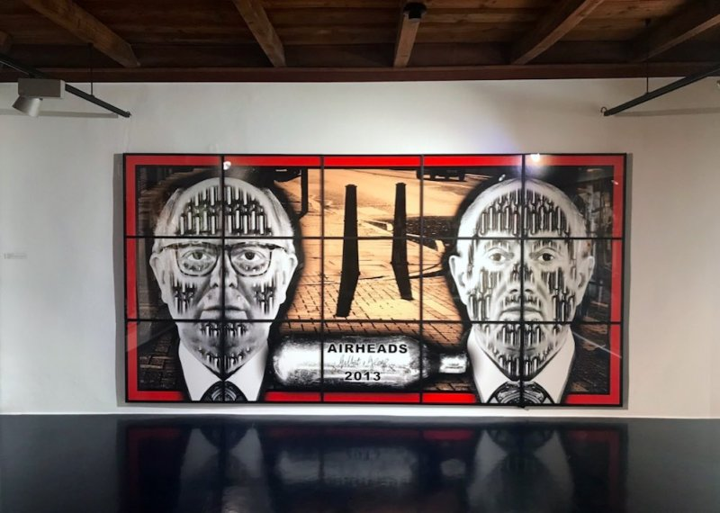 Una sala di Gilbert & George The Locarno Exhibition. Photo by MaSeDomani