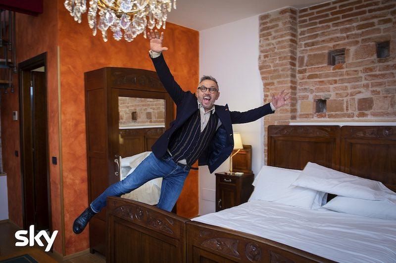Su Sky Uno Vacanze Italiane Bruno Barbieri a Villa Malaspina. Photo courtesy of Sky Italia
