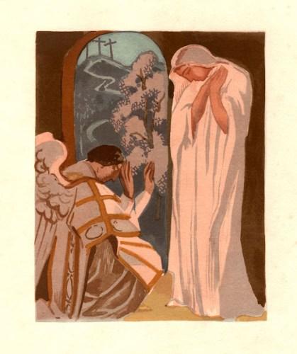 Maurice Denis (Granville 1870 – Saint-Germain-en-Laye 1943), L'Annonce faite à Marie, 1927, xilografia a colori; © Governatorato SCV Direzione dei Musei