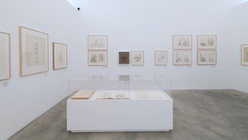 mostra Alberto Giacometti sala 4 max museo Chiasso. Foto di Carlo Pedroli.