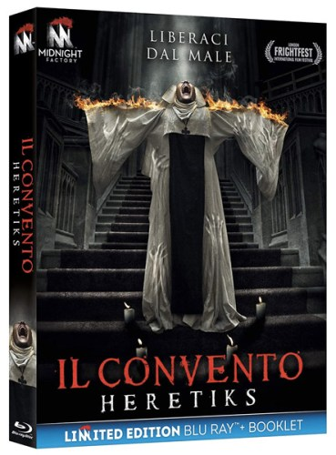 La cover del bluray del film IL CONVENTO - HERETIKS.