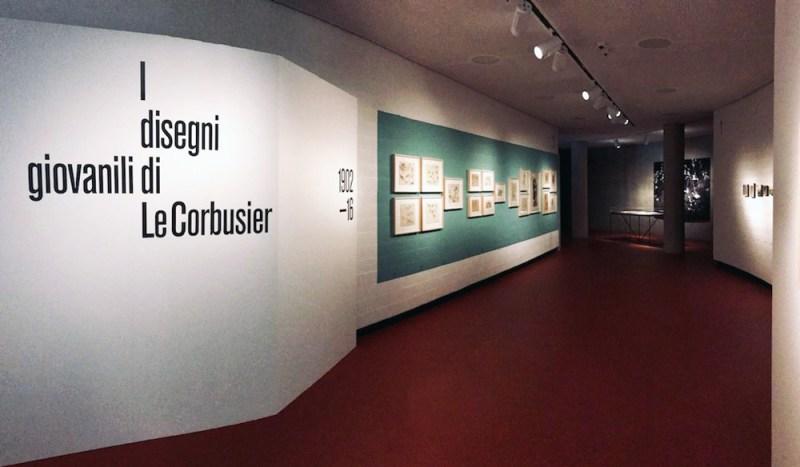 I disegni giovanili di Le Corbusier, ingresso mostra. Photo: MaSeDomani.