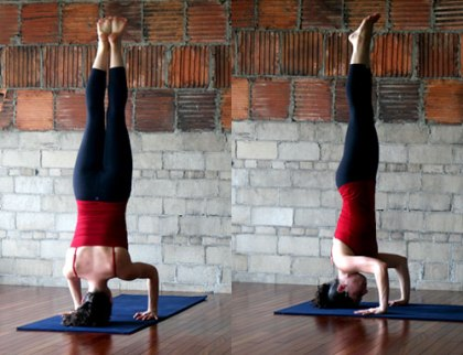 Posición de headstand