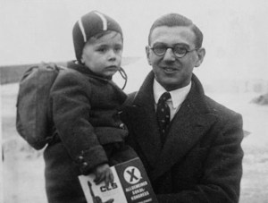 young Nicholas Winton with rescued child