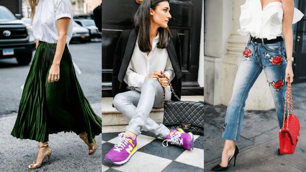 قواعد تنسيق الالوان في الملابس مع الاحذية مشاهير