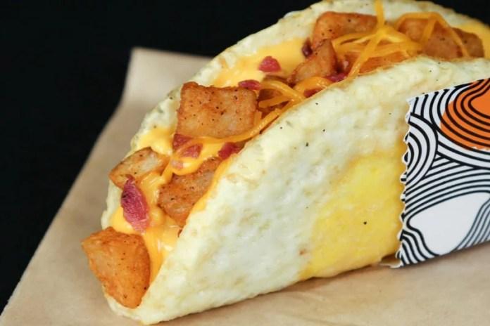 Taco Bell naked egg taco