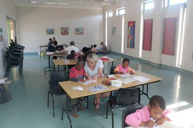 The library extension, built by Masicorp, is used for the 'Homework Club' and other learning support activities