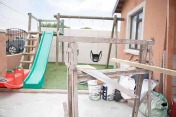 The new Ekhaya Lothando playground (finishing touches in progress)
