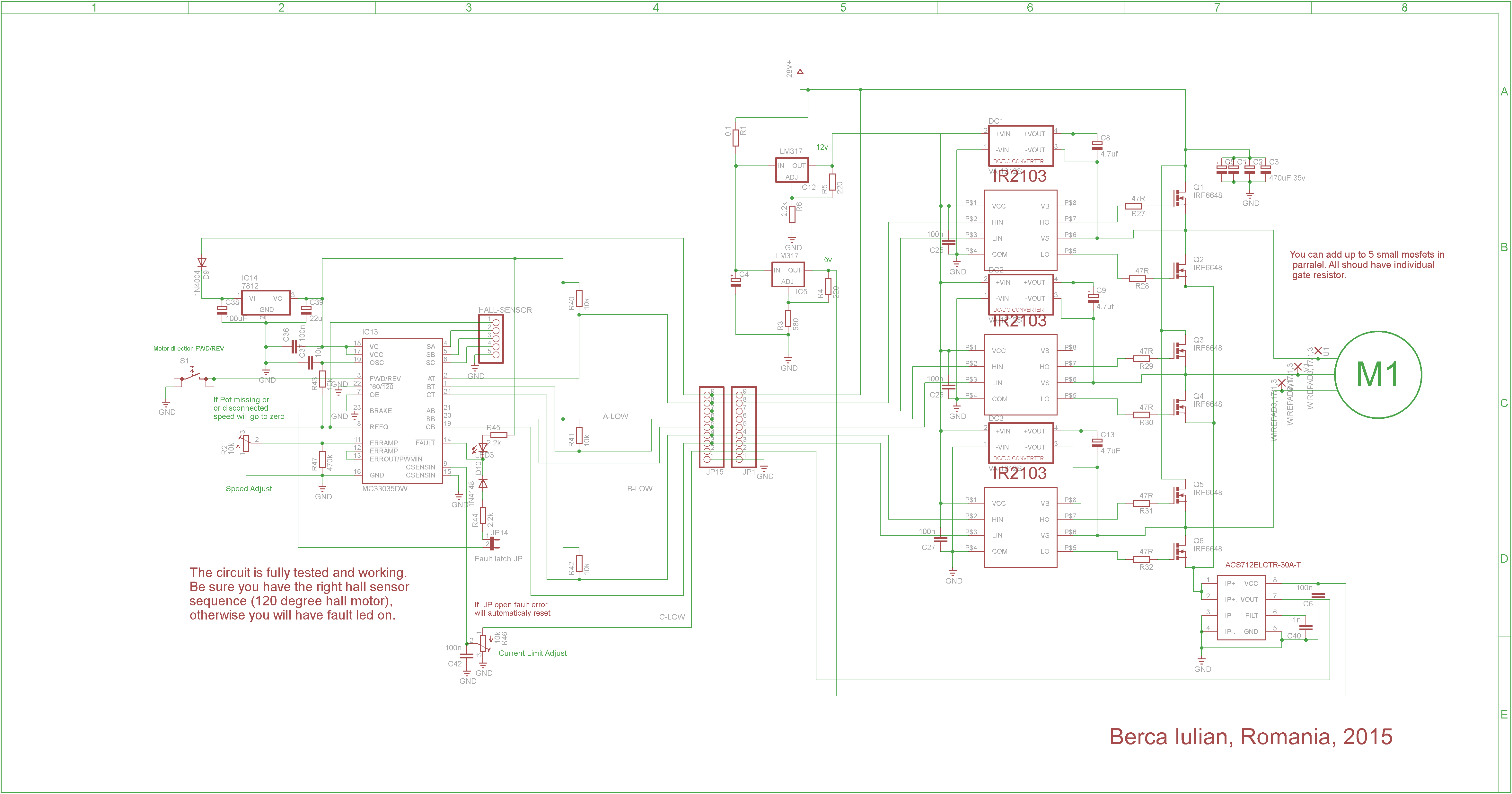 Updated Brushless Controller Schematic Brushless Motors 3phase Inverters Schematics