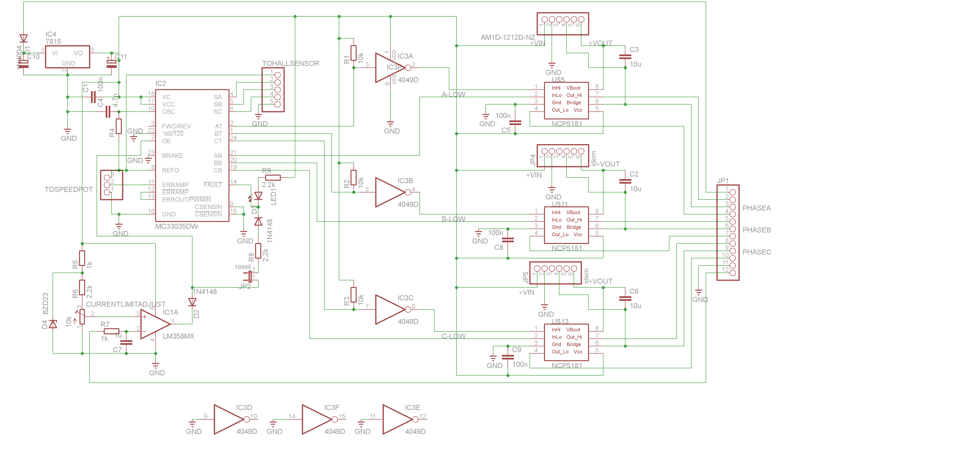 Brushless Motor Controller Schematic Brushless Motors 3phase Inverters Schematics
