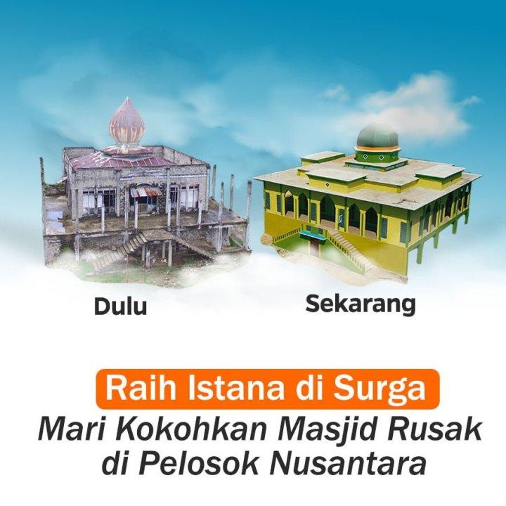 Patungan Bangun Masjid di Pelosok