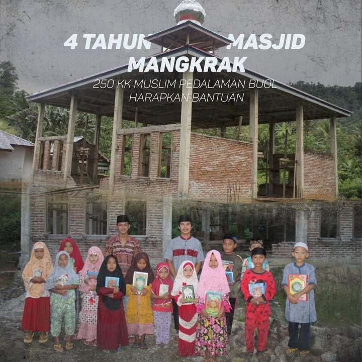 4 Tahun Masjid Mangkrak, Ratusan Muslim Pedalaman Buol Harapkan Bantuan