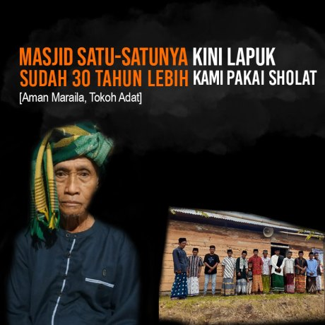 Masjid Tengah Hutan Desa Eeya Butuh Bantuan