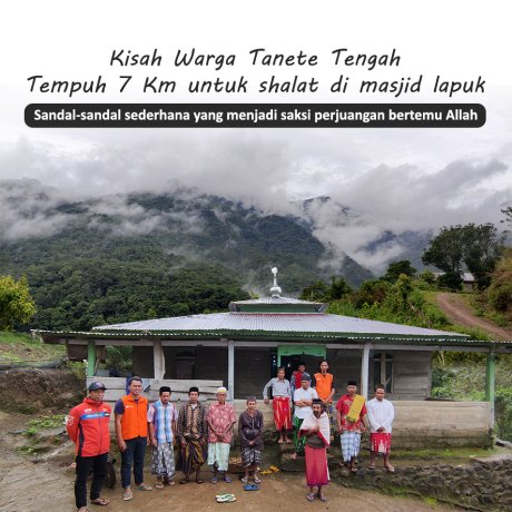 Hadiah Masjid Kokoh untuk Warga Tanete Tengah