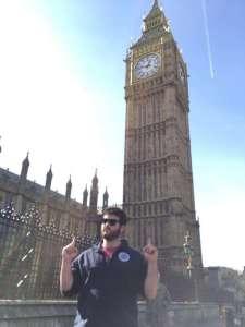 Tim standing in front of Big Ben