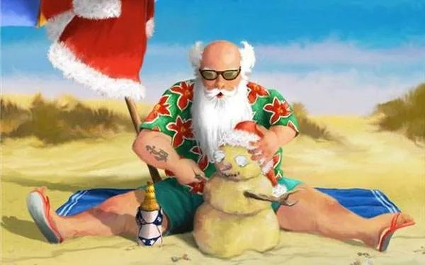 DIY Santa On Holiday Costume
