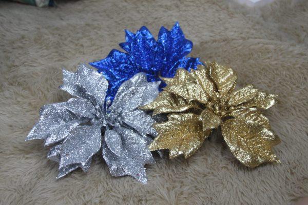 Glittery Poinsettia - Masons Home Decor Singapore