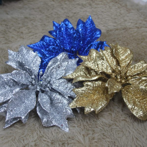Glittery Poinsettia - Masons Home Decor Singapore