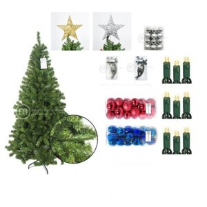 Ariostea Dense 7 ft Chrismtas Tree Value Bundle