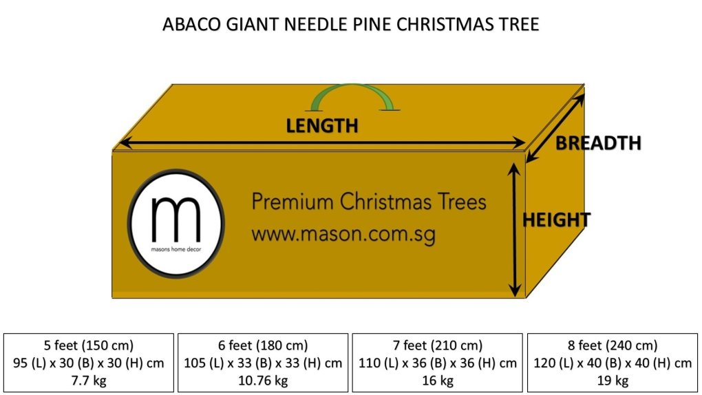abaco christmas tree dimensions and weight