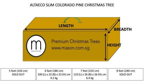 altaeco christmas tree dimensions and weight