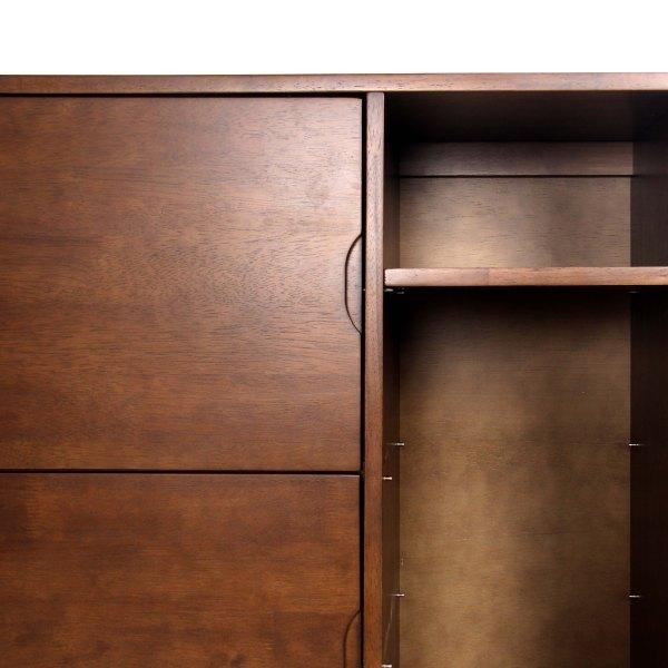 mason natural walnut solid wood sideboard