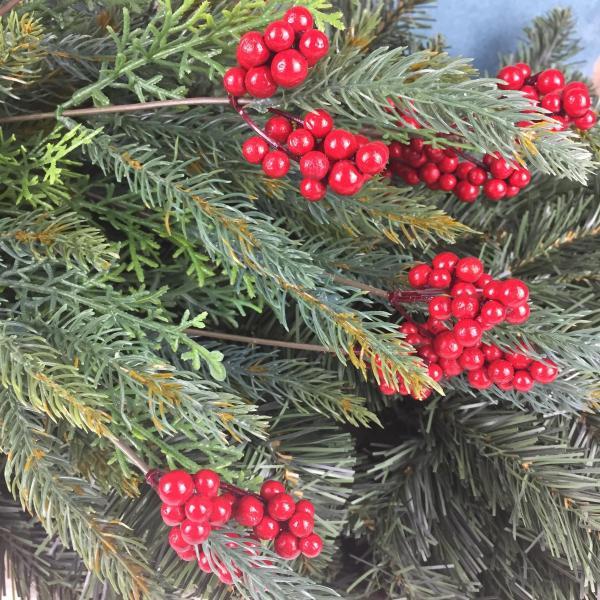 berry bush tree pick ornament by masons home decor