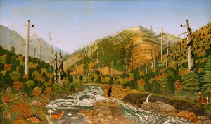 Upper Reach of the Wind River by Stephen W. Harley, near Carson, Washington, 1927,oil on canvas. The Colonial Williamsburg Foundation. Museum Purchase.