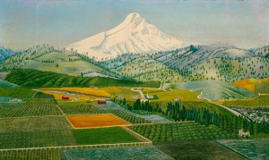 South End of Hood River Valley by Stephen W. Harley, Oregon, 1927, oil on canvas.The Colonial Williamsburg Foundation. Museum Purchase.