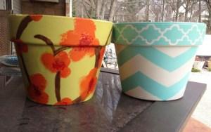 Painted pots -- 952029