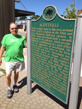 Fred Reader IV wants to correct the historical marker in Scottville.