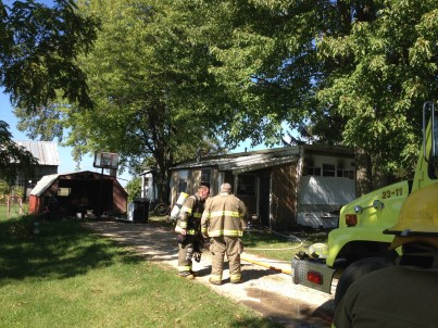 Firefighters were on seen of the fire at the corner of Hansen and Tuttle roads.