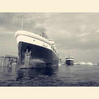 The SS Badger docked in Ludington.