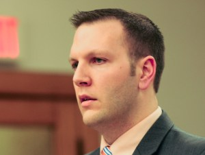 Assistant Prosecutor Glenn Jackson addresses the jury.