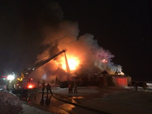 Ludington Fire Department assisted at the Applebee's fire in Amber Township earlier this year.
