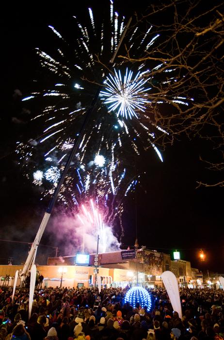 Ludington, Michigan fifth annual New Year's Eve Ball Drop, Dec. 31, 2013