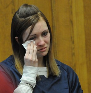 Sarah Knysz appeared in court.