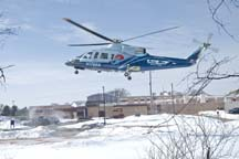 Helicopter landing-81a 600 - 3-7-14