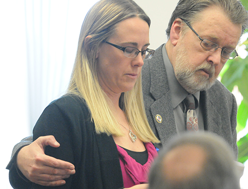 Jennifer Sielski reads her victim impact statement to the court.
