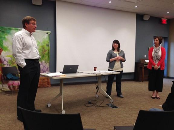 John Wilson, left, Lisa Cooper and Lynn Russell