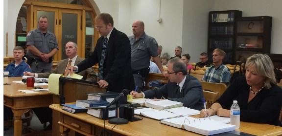 Defense attorney David Glancy argues against open murder.