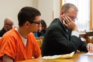 Blackburn with his attorney, David Glancy.