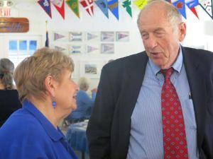 Pentwater Village President Juanita Pierman and Roseman.